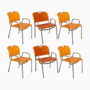 Modell Castiglia Esszimmerstühle von Achille Castiglioni für Zanotta, 1968, 6er Set