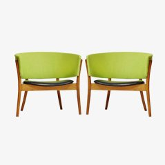 Vintage Easy Chairs by Nanna Ditzel for Søren Wiladsen, Set of 2
