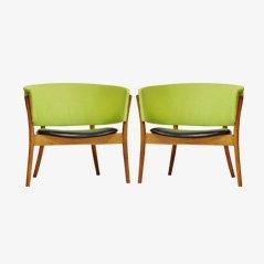 Vintage Stühle von Nanna Ditzel für Søren Wiladsen, 2er Set