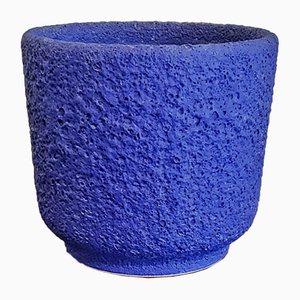 Blauer Nr. 0/17 Übertopf von Silberdistel Keramik, 1970er
