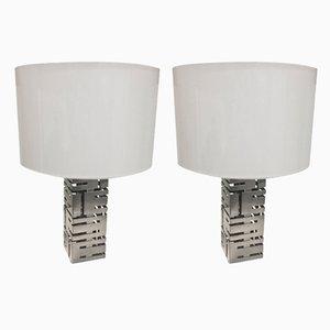 Lampes de Bureau en Acier de Roche Bobois, années 70, Set de 2