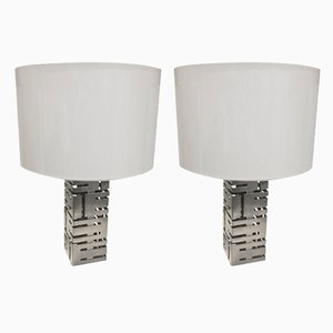 Steel Table Lamps from Roche Bobois, 1970s, Set of 2