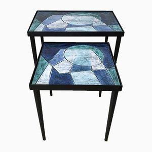 Tavolini ad incastro di Robert Cloutier, anni '60