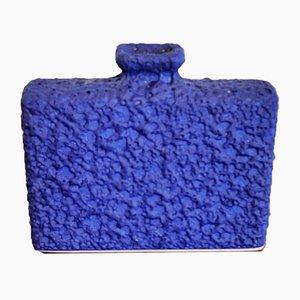 Vaso da camino nr. 7/18 blu di Silberdistel Keramik, anni '70