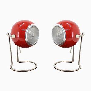 Lampes de Bureau Space Age, années 70, Set de 2