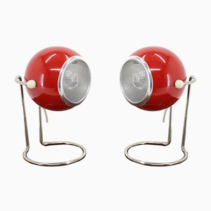 Space Age Table Lamps, 1970s, Set of 2