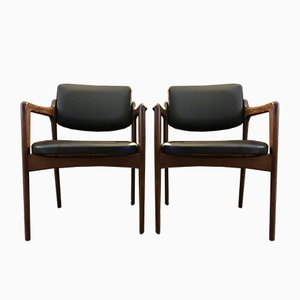 Rosewood Lounge Chairs by Erik Buch, 1960s, Set of 2