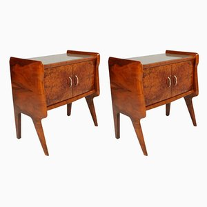 Italian Nightstands by Vittorio Dassi, 1940s, Set of 2