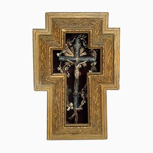 17th Century Italian Silver and Giltwood Crucifix, 1900s