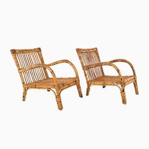 Stühle aus Bambus, 1970er, 2er Set