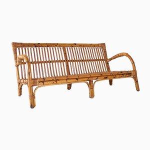 Chaise longue in bambù, anni '70