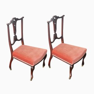 Mahogany Nursing Chairs, 1930s, Set of 2