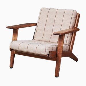 Dänischer Modell GE290 Sessel mit Gestell aus Eiche von Hans J. Wegner für Getama, 1960er