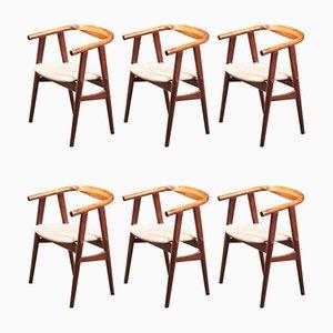 Chaises de Salle à Manger Modèle GE525 par Hans J. Wegner pour Getama, Danemark, années 60, Set de 6