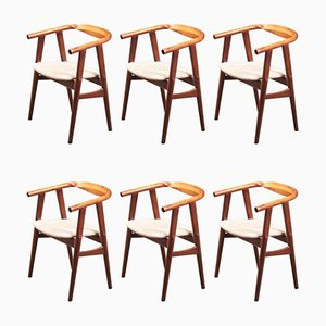 Danish Model GE525 Dining Chairs by Hans J. Wegner for Getama, 1960s, Set of 6