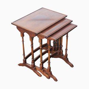 Tavolini ad incastro in mogano, anni '40