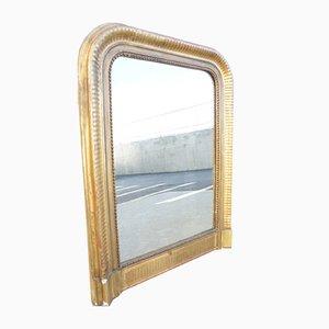 Antiker Louis Philippe Spiegel mit vergoldetem Rahmen