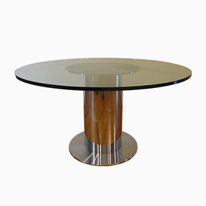 Italian Dining Table by Willy Rizzo for Cidue, 1960s