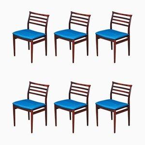 Dänische Esszimmerstühle aus Palisander von Erling Torvits für Sorø Stolefabrik, 1960er, 6er Set