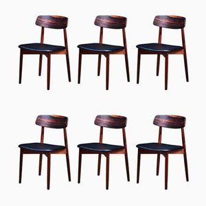 Mid-Century Danish Rosewood Dining Chairs by Harry Østergaard for Randers Møbelfabrik, Set of 6