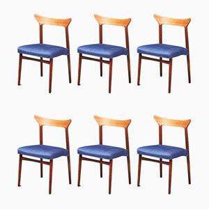Chaises de Salle à Manger en Teck par Kurt Østervig, Danemark, années 60, Set de 6