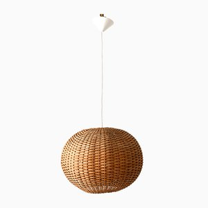 German Wicker Pendant Lamp, 1960s