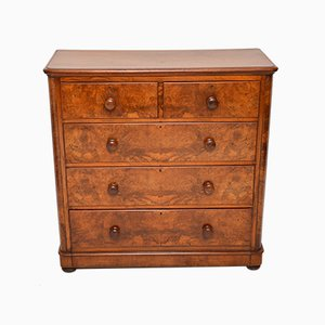 Large Antique Victorian Burl Walnut Dresser