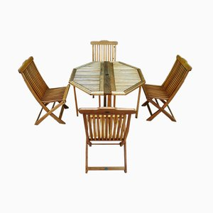 Terrace Table and Chair Set from Jutlandia, 1980s