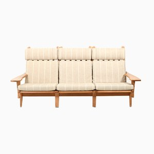 Oak Model GE-375 3-Seater Sofa by Hans J. Wegner for Getama, 1970s