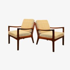 Senator Lounge Chairs by Ole Wanscher for Cado, 1960s, Set of 2