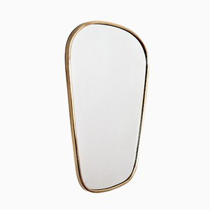 Italian Brass-Framed Mirror, 1950s