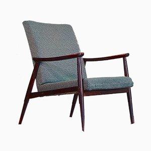 Armlehnstuhl aus Nussholz im skandinavischen Stil, 1960er