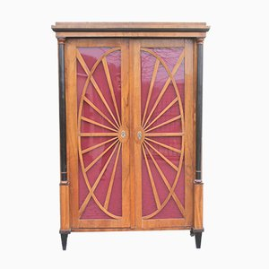 Antique Biedermeier Walnut Bookcase