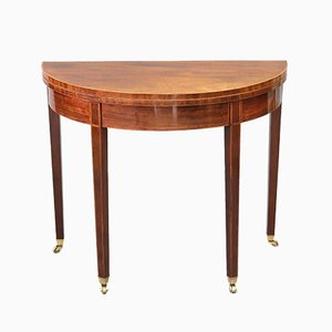 Antique Geroge III Mahogany Folding Tea Table, 1800s