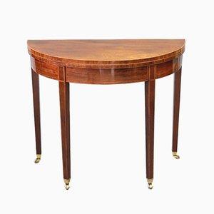 Table à Thé Ancienne Pliable Geroge III en Acajou, années 1800