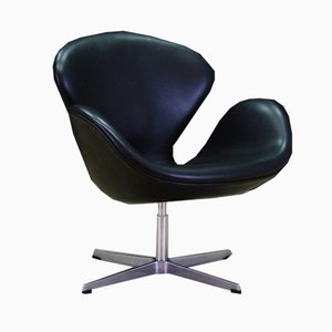 Danish Leather Armchair by Arne Jacobsen for Fritz Hansen, 1980s