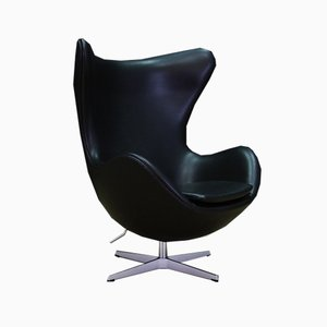Danish Leather Armchair by Arne Jacobsen for Fritz Hansen, 2000s
