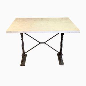 Tavolo da giardino in ghisa e marmo, anni '40