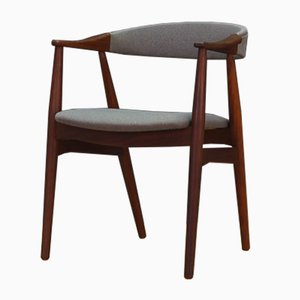 Fauteuil en Teck et Tissu de Farstrup Furniture, Danemark