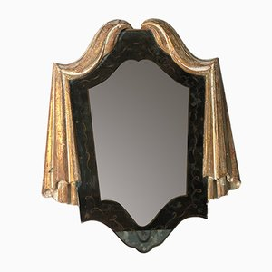 Small Antique Italian Carved Mirror, 1900s