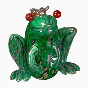 Scultura Prince of Frog verde di VG Design and Laboratory Department