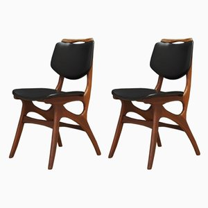 Mid-Century Danish Fabric and Teak Dining Chair, Set of 2