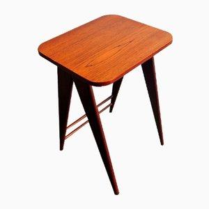 Mid-Century Mahogany and Teak Side Table, 1960s