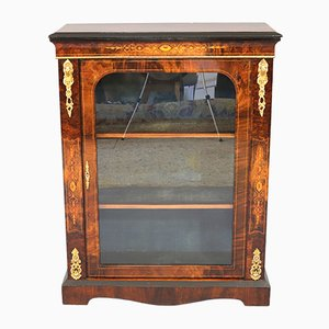 Antique Inlaid and Ormolu Mounted Burl Walnut Pier Cabinet, 1860s