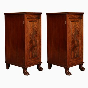 Antique Regency Mahogany Cabinets, Set of 2