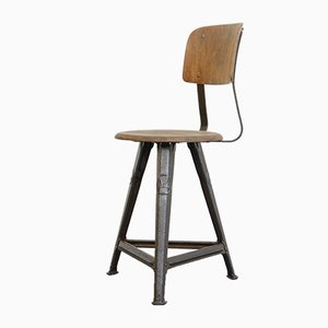 Industrial Factory Chair from Rowac, 1920s