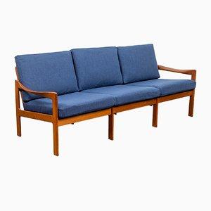Dänisches Sofa mit Gestell aus Teak von Illum Wikkelsø für Niels Eilersen, 1960er