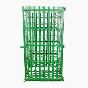 Antique Green Wrought Iron Wine Rack