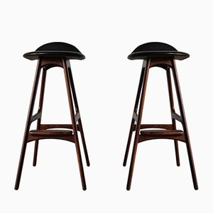 Danish Rosewood Model OD-61 Bar Stools by Erik Buch for Odense Møbelfabrik, 1960s, Set of 2