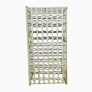 Antique Gray Wrought Iron Wine Rack